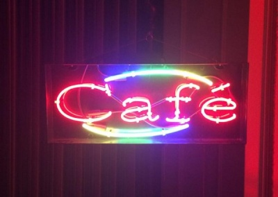Cafe Neon sign Java Java